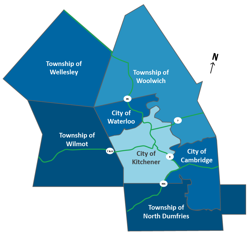 Map of Waterloo Region