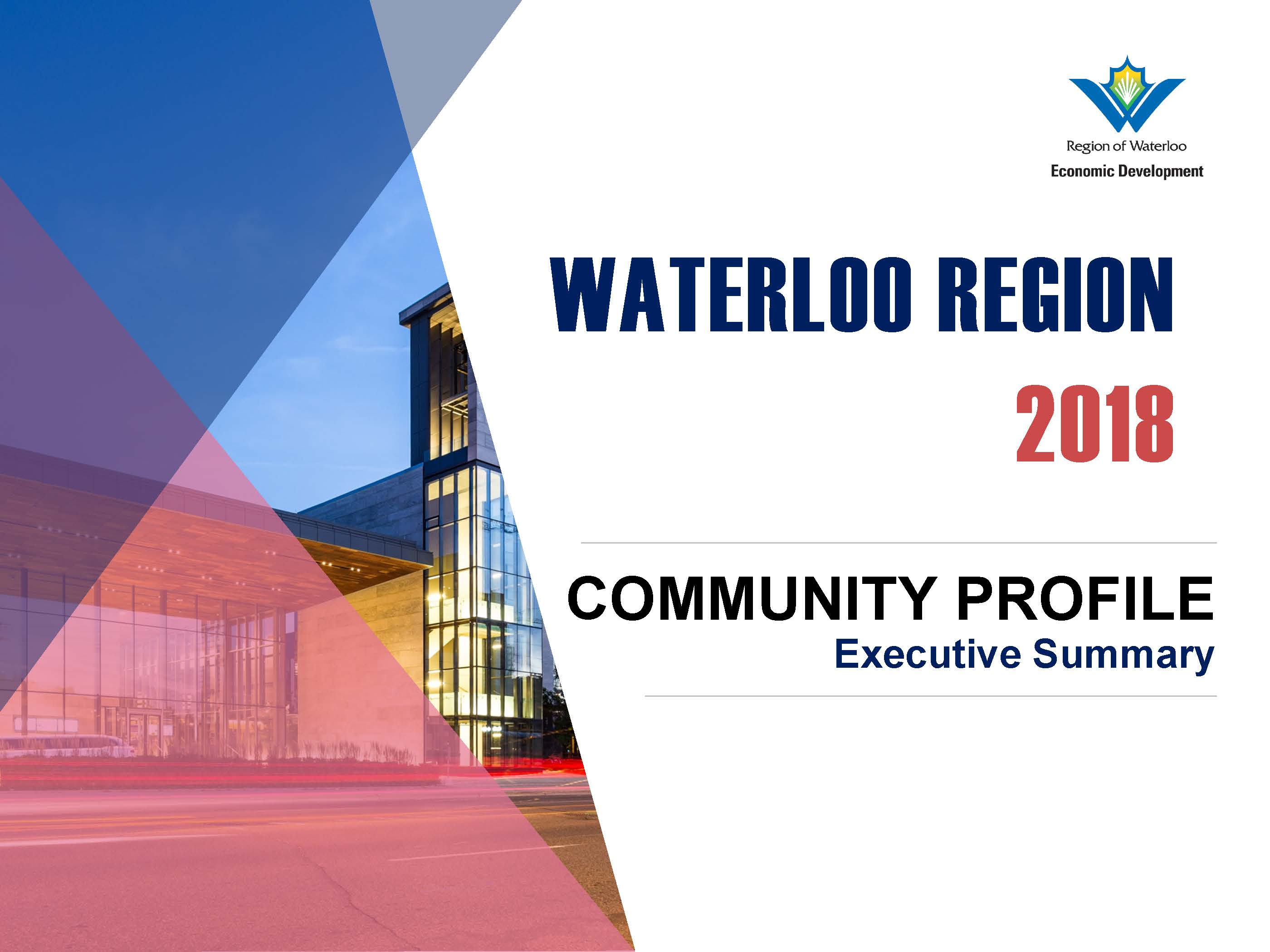 Waterloo Region Community Profile 2018 (summary)