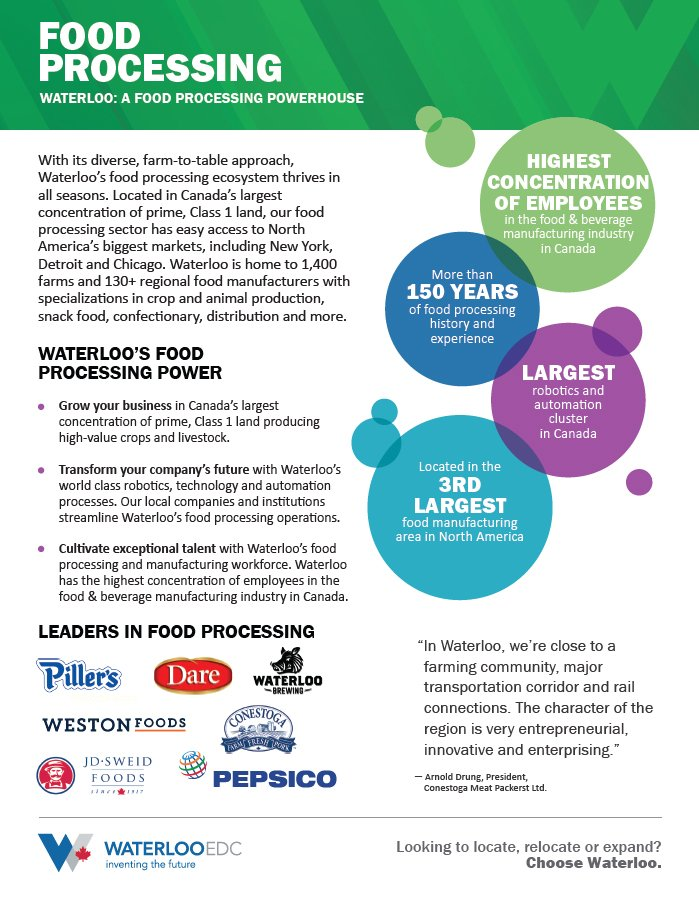 Food Processing Feature Sheet - Download PDF