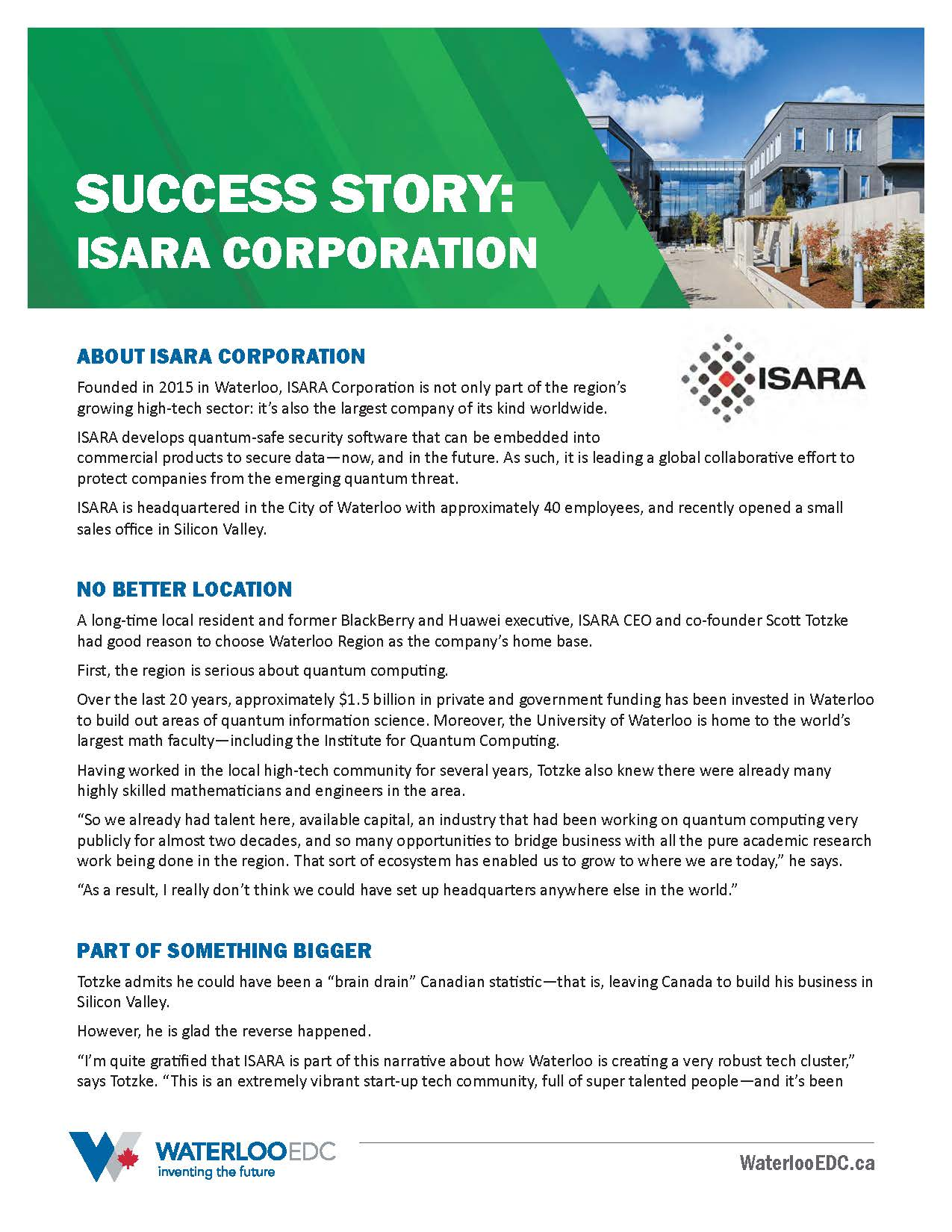 Success Story: ISARA - Download PDF
