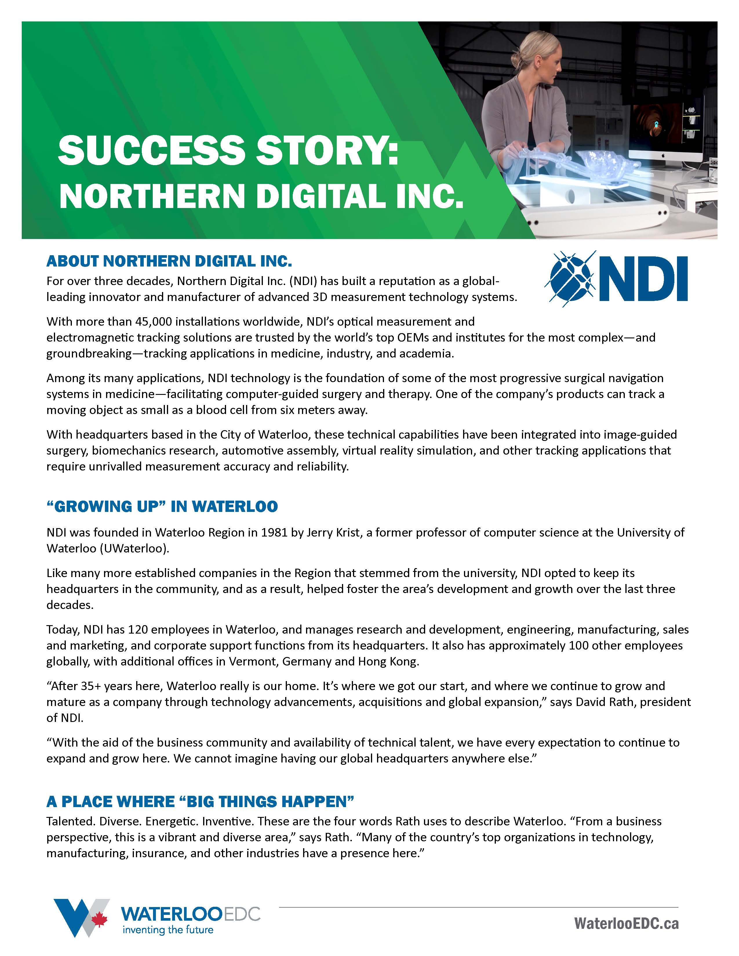 Success Story: Northern Digital Inc.