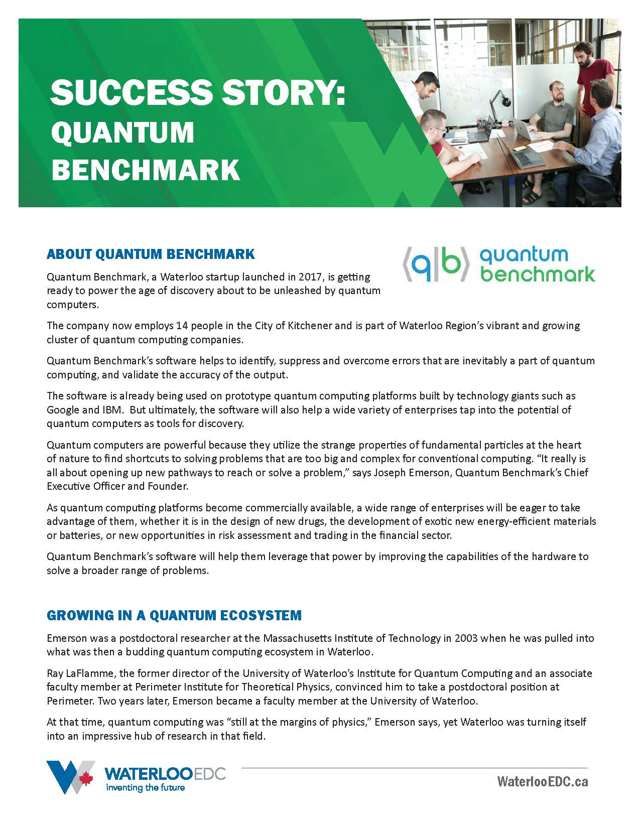 Success Story: Quantum Benchmark - Download PDF