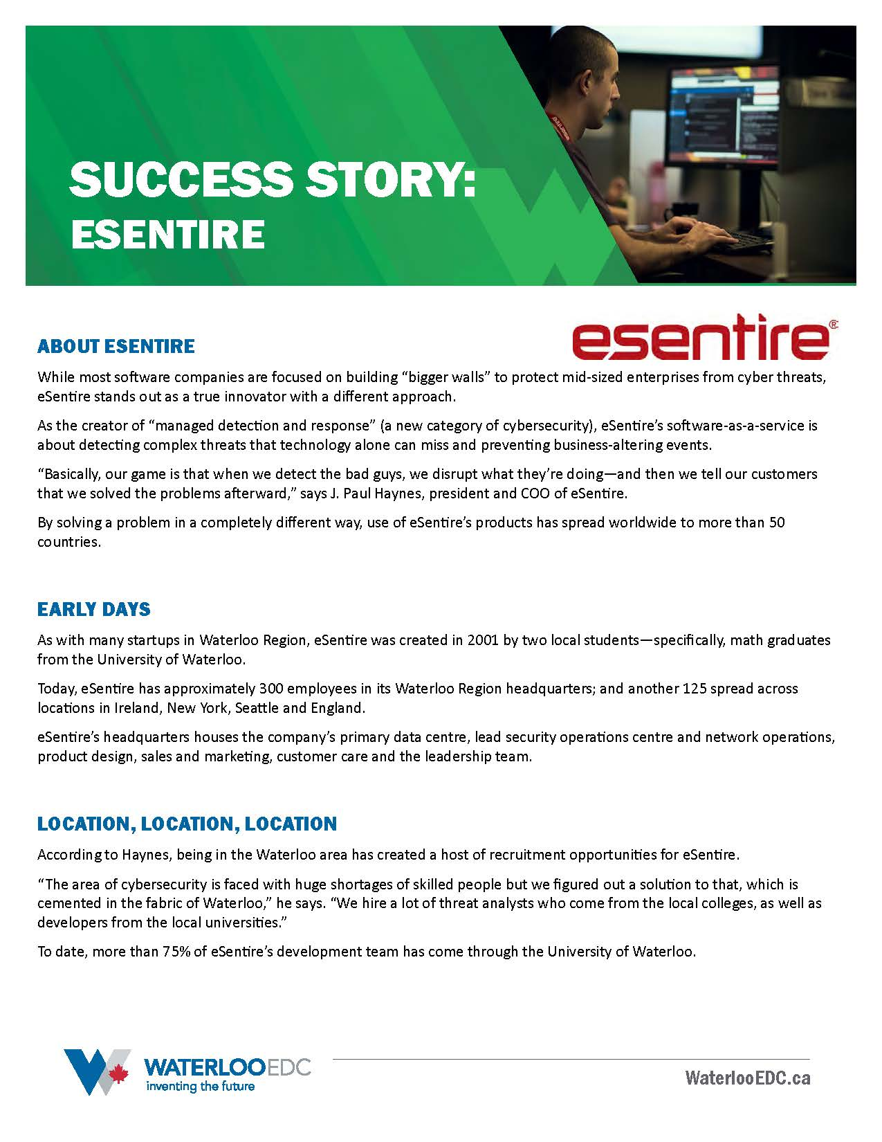 Success story: eSentire