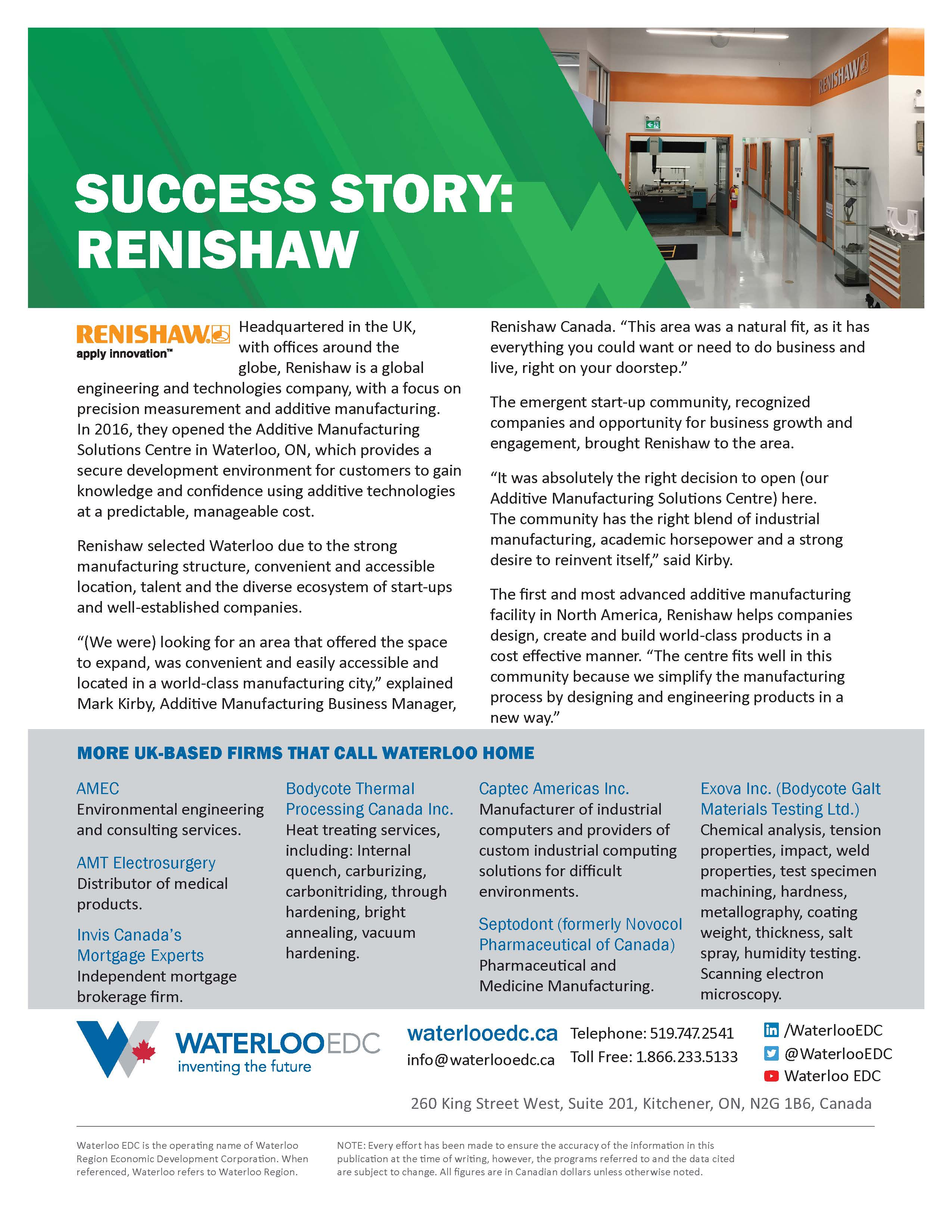 Manufacturing and Industry 4 0 - Waterloo EDC