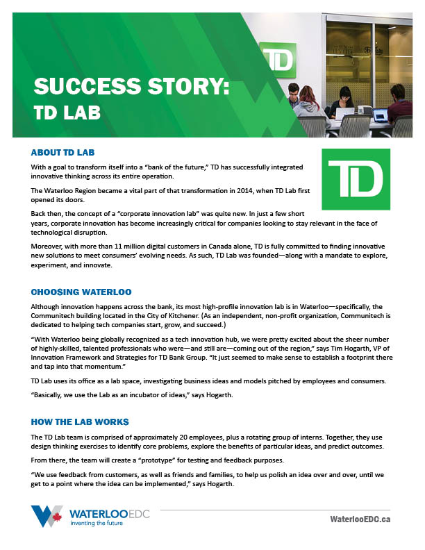 Success Story: TD Labs - Download PDF