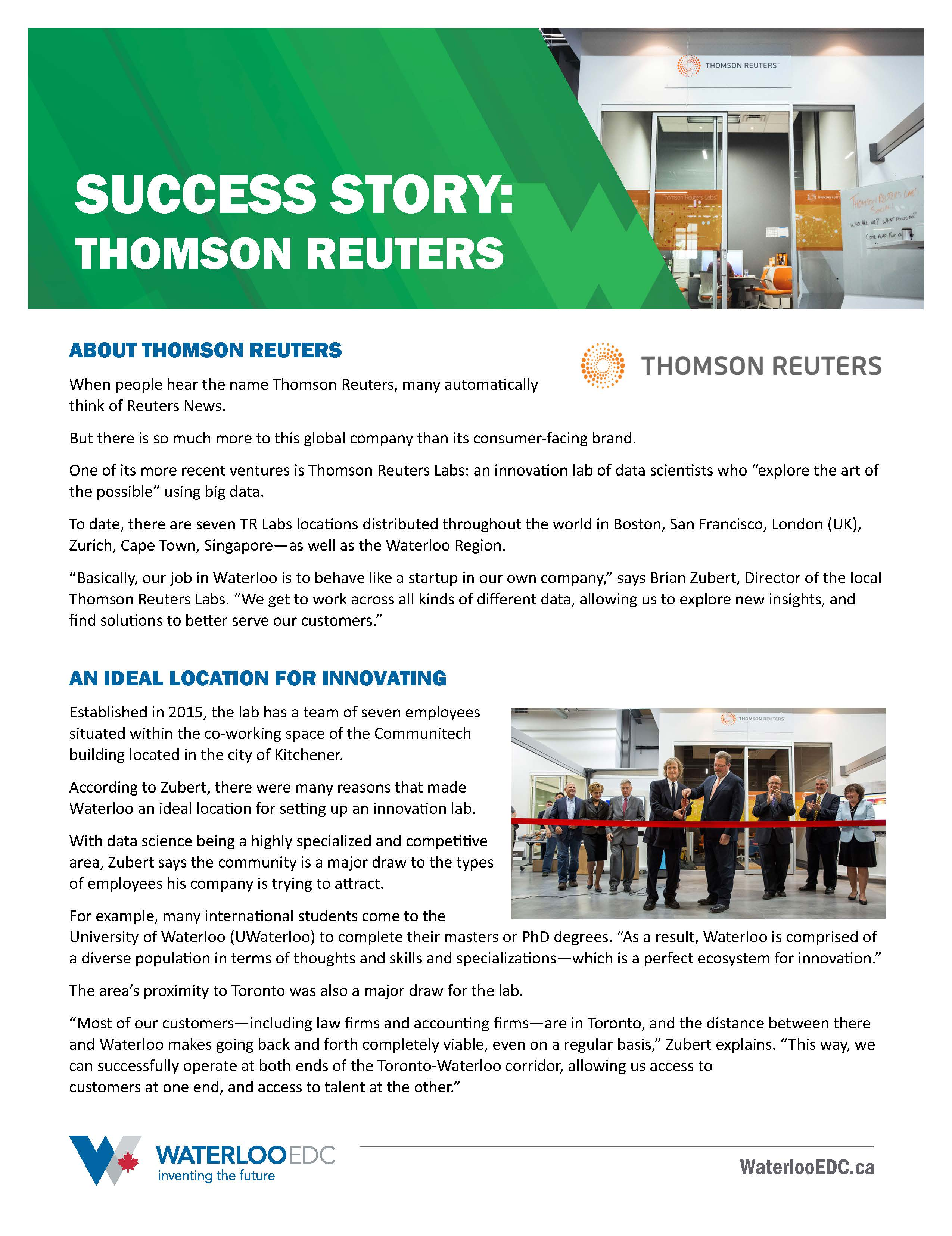 Success Story: Thomson Reuters