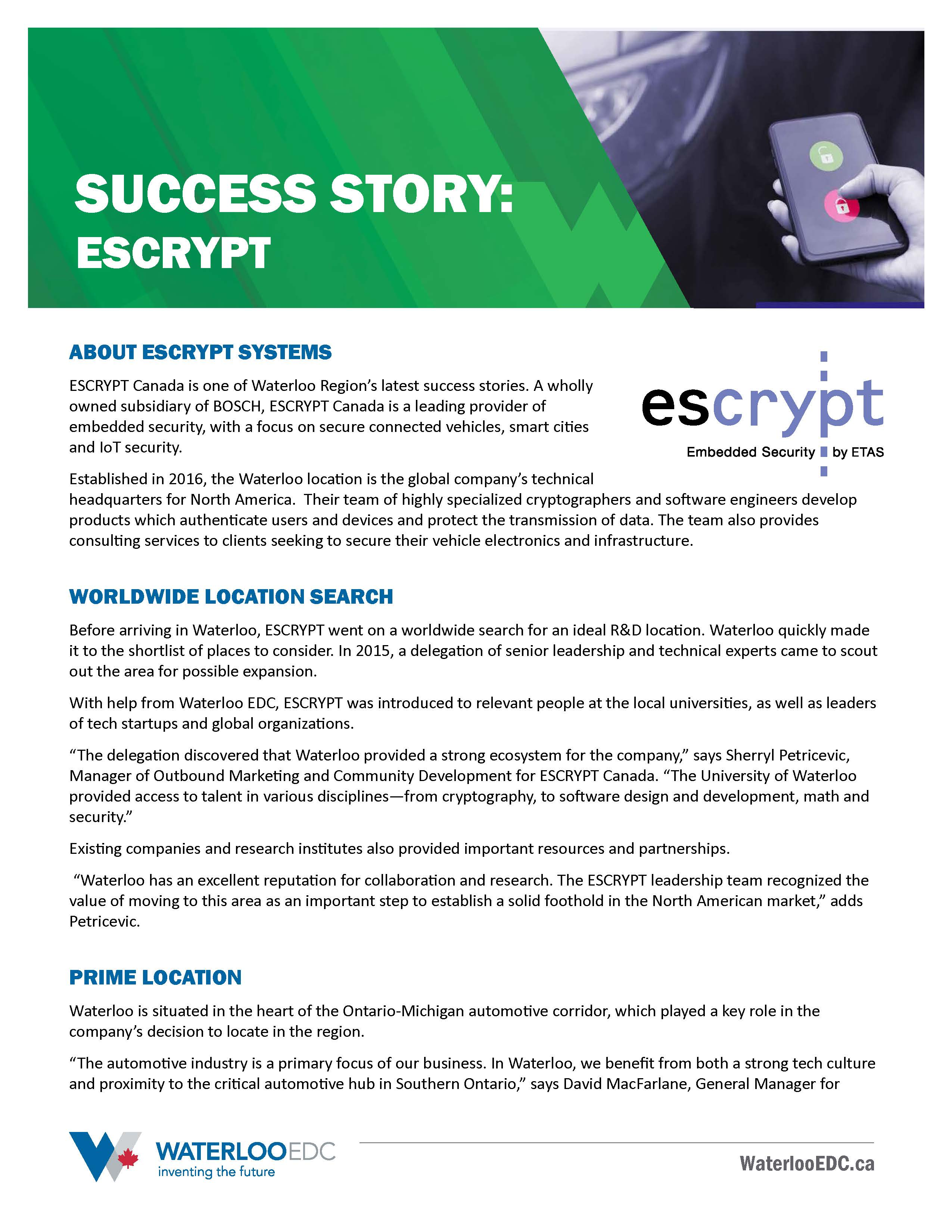 Success Story: ESCRYPT - Download PDF