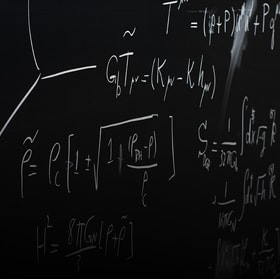 Equations on a chalk board