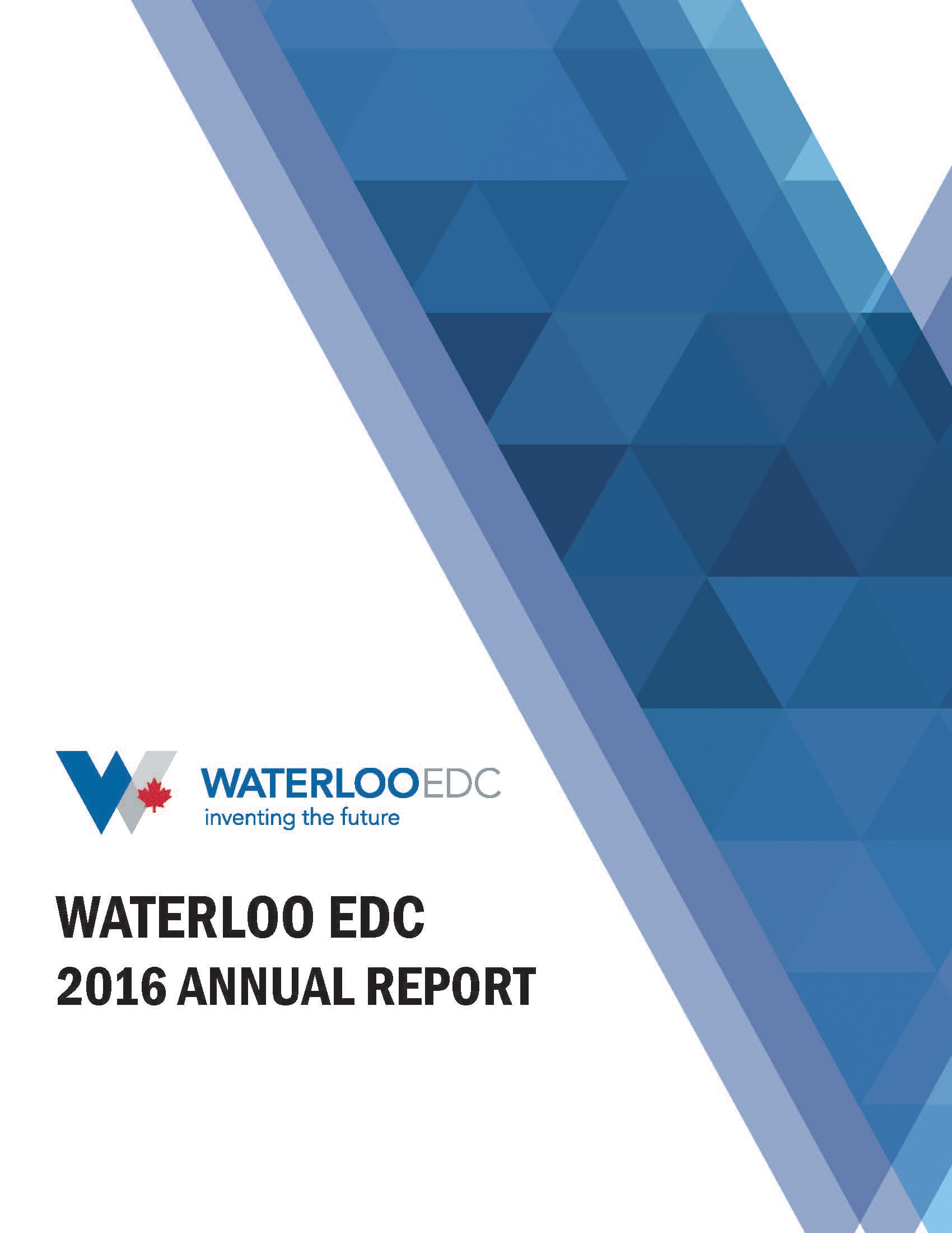 Waterloo EDC 2016 Annual Report